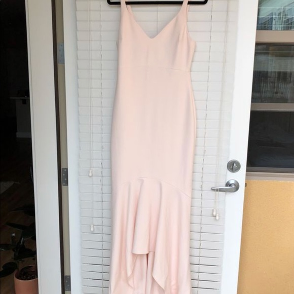 Cinq A Sept Dresses Blush Pink Floor Length Gown Poshmark